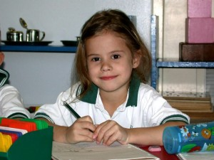 Montessori Girl Studying