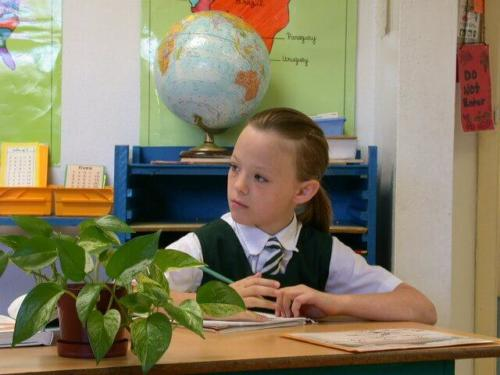 Male Studen at Desk